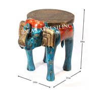 Wooden Table in Elephant Design