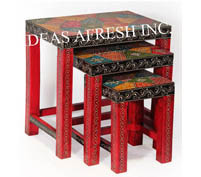 Wooden Table 3 Piece Set